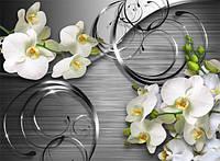 Фотообои для декора стен орхидеи 3Д разные текстуры , индивидуальный размер
