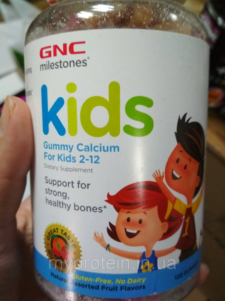 GNC Кальций для детей с витамином Д Kids Bone Health Gummy, 120 gummies
