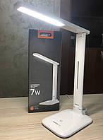 Лампа настільна LED 7W 3000K-5500K 220V VIDEX VL-TF02W для навчання, роботи, офісу, фото 1