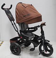 Трехколесный велосипед-коляска Azimut Crosser T-400 TRINITY AIR (надувные колеса) New 2018 коричневый