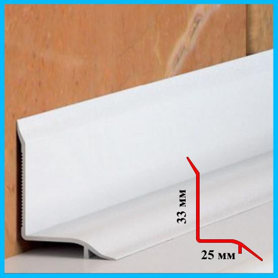 Плинтус на самоклеющейся основе для ванн 25х33, 1,85 м Белый