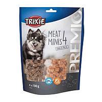 Trixie PREMIO 4 Meat Minis лакомство для собак  с курицей, уткой, говядиной и бараниной 4х100г