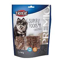 Trixie PREMIO 4 Superfoods лакомство для собак с курицей, уткой, говядиной, бараниной и ягодами 4х100г