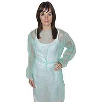 Защитный халат из нетканого материала общего назначения на завязках Medicom Голубой 10 шт