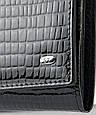 Лаковый кошелек, женский Sergio W501 black, черный, фото 3