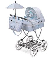"""Коляска  классическая с зонтиком для куклы """"Кэрол"""" DeCuevas 80222 высота 90 см ***"""