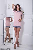 Яркое и универсальное двухцветное платье приталенного кроя Azalia