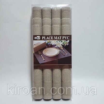 Коврики-подложки для защиты стола (сетка) набор 4шт 30х45см , фото 2