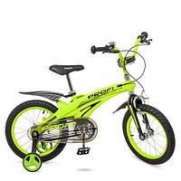 Велосипед двухколёсный детский 16 дюймов Profi Projective LMG16124 магниевая рама зеленый ***