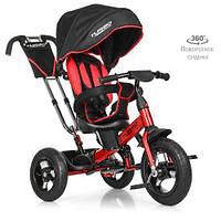 Детский трехколесный велосипед с поворотным сиденьем TURBOTRIKE M 4059-3 черно-красный