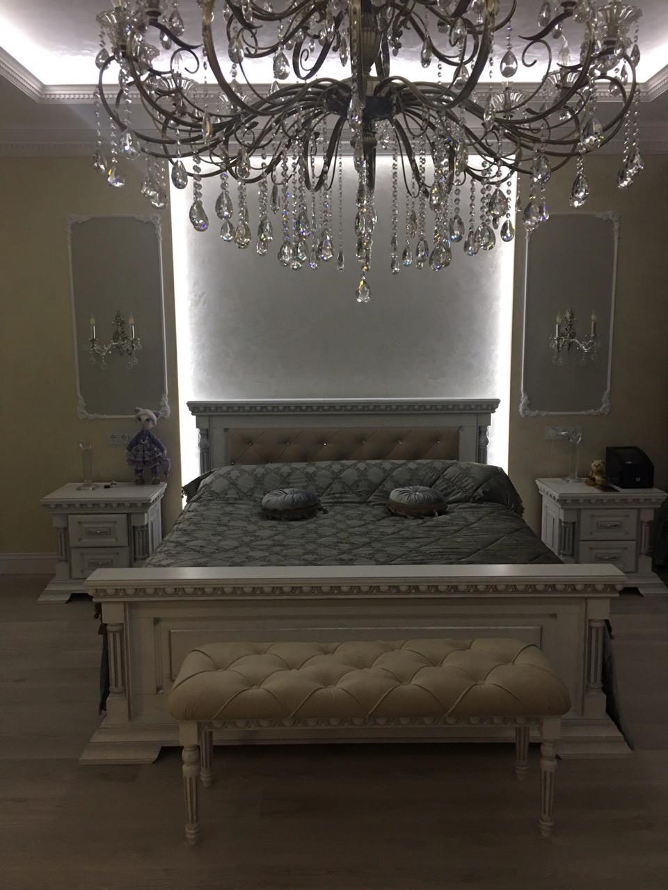 """Кровать (ліжко) """"Мадрид"""" из натурального дерева - дуб."""