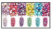 Mix камней Swarovski шесть цветов АВ, 720 шт
