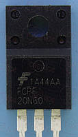 MOSFET N-канал 600В 20А Fairchild FCPF20N60 TO220F