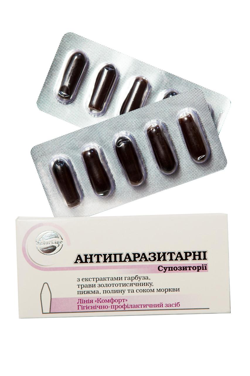 "Суппозитории ""Антипаразитарные"" / ""Антипаразитарні"""