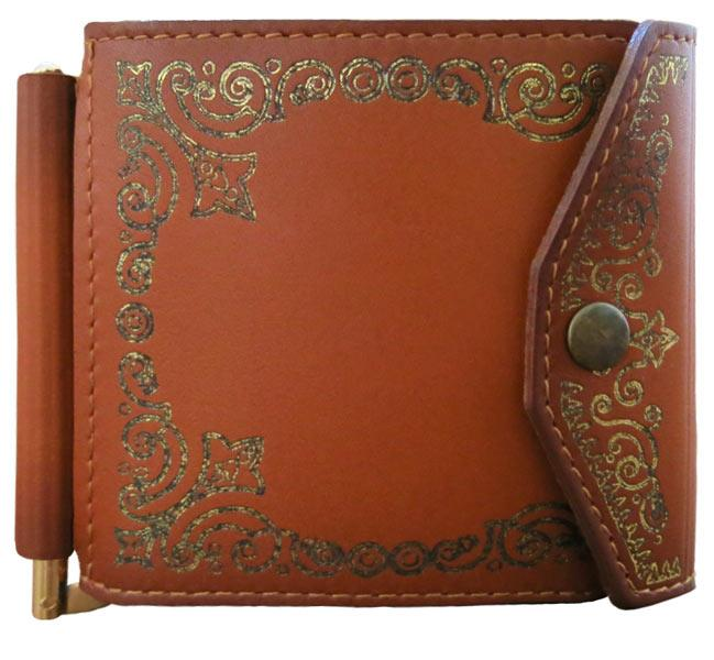 """Зажим для денег (клипкэш) кожаный универсальный закрывается на кнопку """"Марракеш"""". Цвет коричневый"""