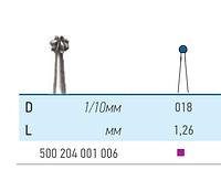 Бор твердосплавный КМИЗ , Шар для прямого и углового наконечника Для углового наконечника  500 204 001 006 018