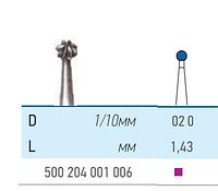 Бор твердосплавный КМИЗ , Шар для прямого и углового наконечника Для углового наконечника  500 204 001 006 020
