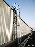 Пожарные наружные металлические лестницы ( крепление нержавейка ), фото 1