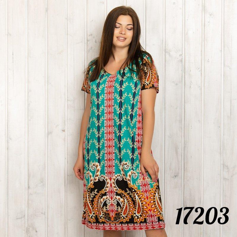 Туника женская цветная с растительным узором INTENSIVE (Турция) intsv17203
