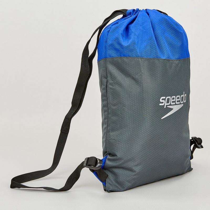 Рюкзак-мешок складной SPEEDO 809063C299 (полиэстер, р-р 45х34см, серый-синий)