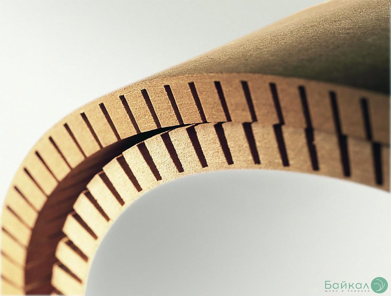 МДФ плита гнучка з прорізом 8 мм 2,85х1,03 м - поздовжнє кручення