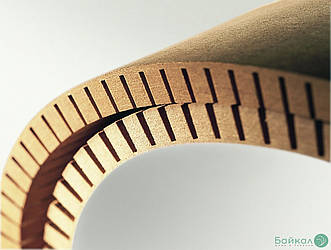 МДФ плита гибкая с прорезью 8 мм  2,85х1,03 м - продольное кручение