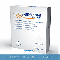 FARMACTIVE Скьюма ПУ, Полиуретановая губчатая повязка (20x20)
