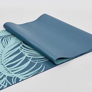 Коврик для йоги и фитнеса PVC двухслойный 4мм SP-Planeta PALM FI-0180-2 , фото 2