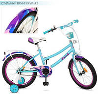 Детский велосипед колеса 18 дюймов PROFI Geometry Y18164 стальная рама Голубой/Мятный