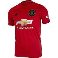 Футбольная форма Манчестер Юнайтед (Manchester United) 2019-2020 Домашняя Детская (черные шорты)