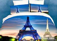 Комплект постельного белья love You Paris Сатин 3D Семейный