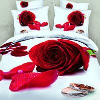 Комплект постельного белья love You Аморе Сатин 3D Семейный