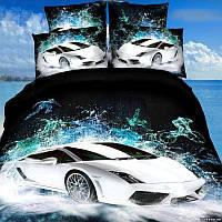 Комплект постельного белья love You Ралли Сатин 3D Семейный