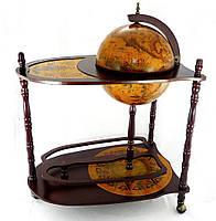Глобус бар Гранд Презент напольный со столиком 330 мм Коричневый (33035R)