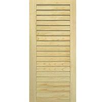 Двери жалюзи Woodtechniс cосна 1400x594 мм