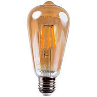 Лампа светодиодная Светкомплект Vintage Fil Amber ST64 6 Вт E27 2500 К 220 В