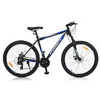 Спортивный велосипед колеса 27,5 дюймов PROFI G275GRAPHITE A275.1 Черный/Синий