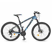Спортивный велосипед колеса 27.5 дюймов PROFI EB275STUBBORN CB275.2 Черный/Белый/Синий