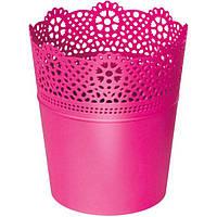 Горшок цветочный Prosperplast Lace 18 см фуксия