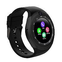 Умные смарт часы Smart Watch Y1S Black с слотом под SIM карту, розумний смарт годинник, черний