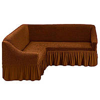 Чехол для мебели love You диван угловой какао