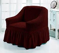 Чехол для мебели love You кресло вишня