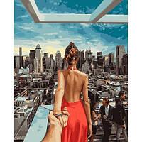 Картина по номерам Следуй за мной.Нью-Йорк Rainbow Art 40*50 см GX21784