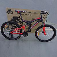 Спортивный горный велосипед Azimut Power GFRD 26 дюймов Черный/Красный