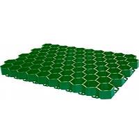 Решетка газонная Полимер-Электрон 59.4x36.3x3.57 см зеленая