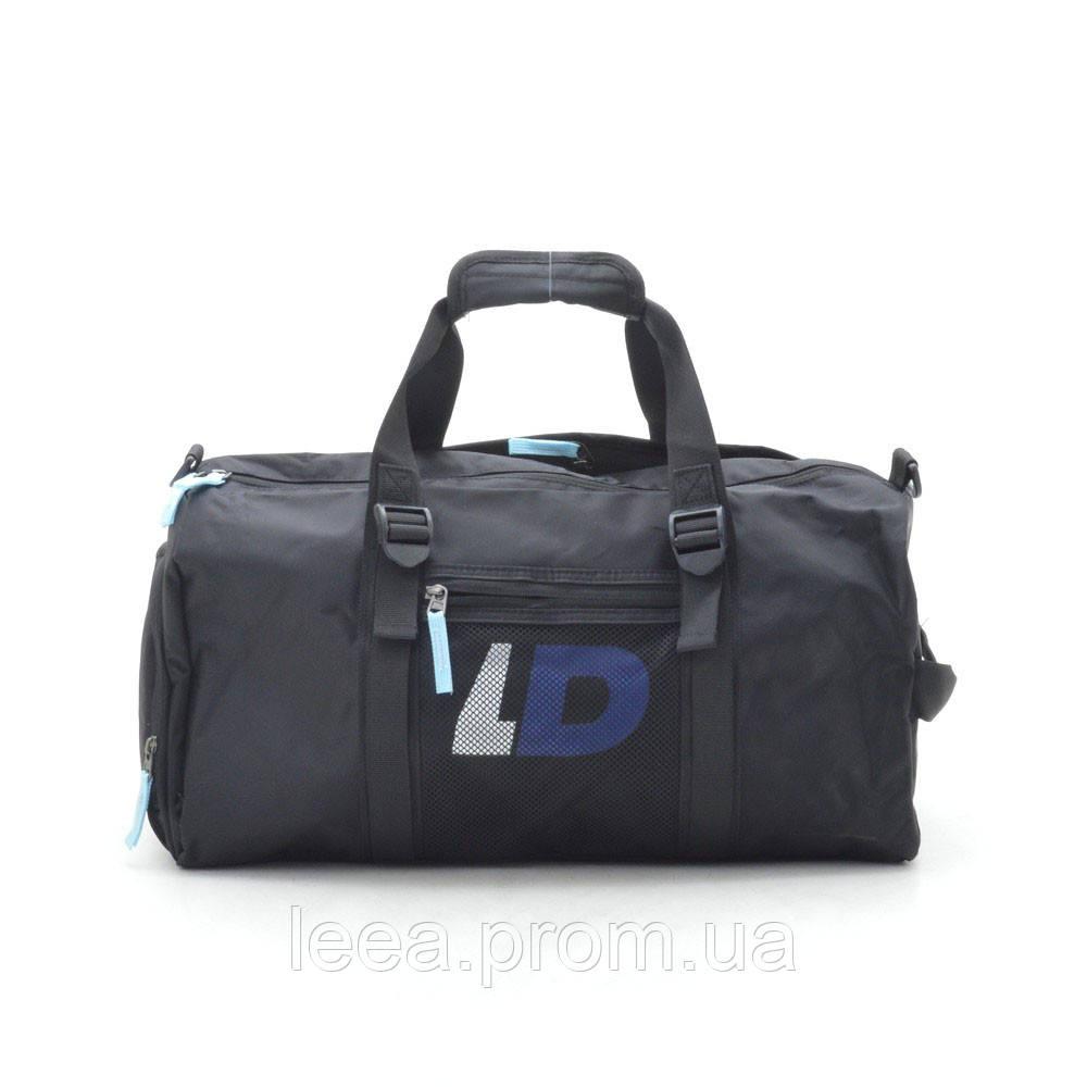 Дорожная сумка LD черная (синие буквы)