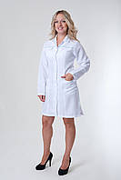 Халат медицинский женский короткий однотонный с карманами