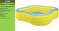 Семейный надувной бассейн Intex 229х229х56 см (57495)