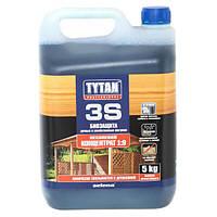 Биозащита Tytan 3 для древесины концентрат зеленый 5 кг