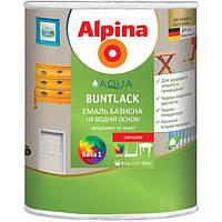 Эмаль Alpina Aqua Buntlack SM B1 шелковисто-матовая 0.75 л